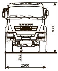 Шасси КАМАЗ-43502