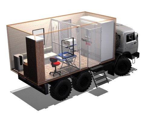 Mobile Chest X Ray Screening Truck